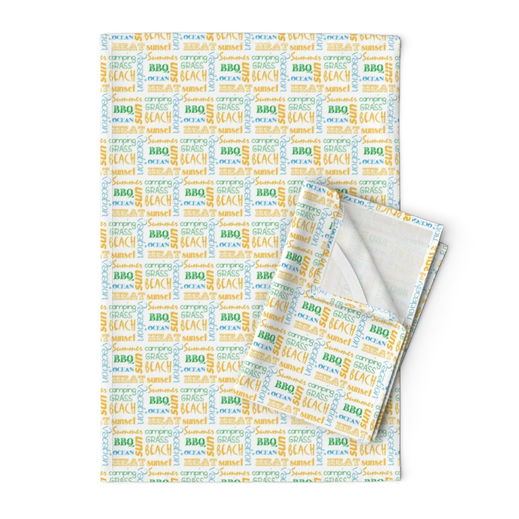 Orpington Tea Towels featuring summerwords by winter