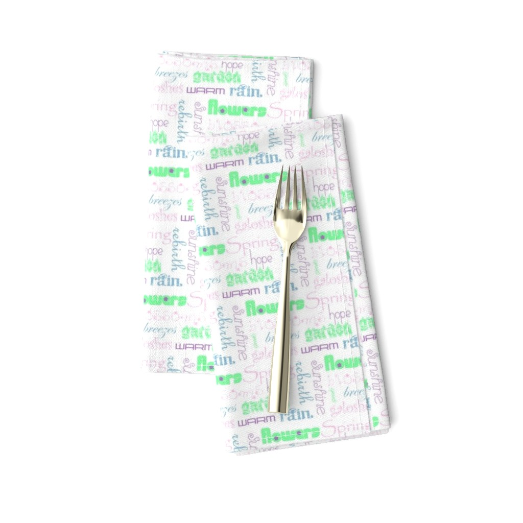 Amarela Dinner Napkins featuring springwords by winter