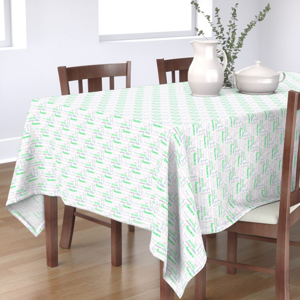Bantam Rectangular Tablecloth featuring springwords by winter