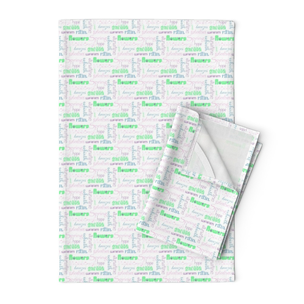 Orpington Tea Towels featuring springwords by winter