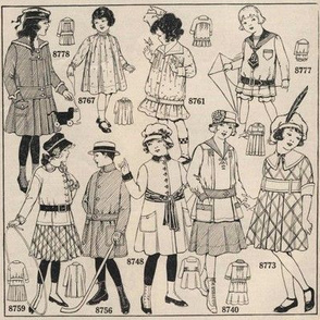 Illustrated 1915 children's fashions
