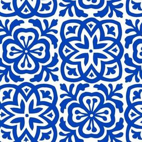 Moroccan Tile Bright Blue