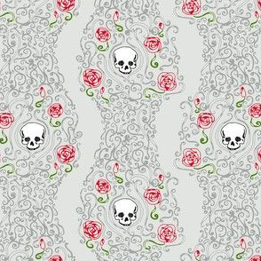 Where the Wild Roses Grow (Light Grey Small)