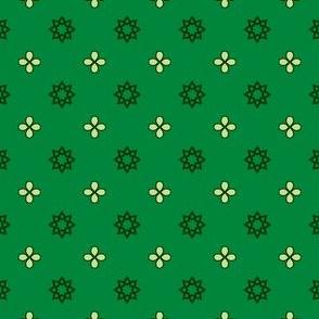 Starry Petals - Bamboo Green