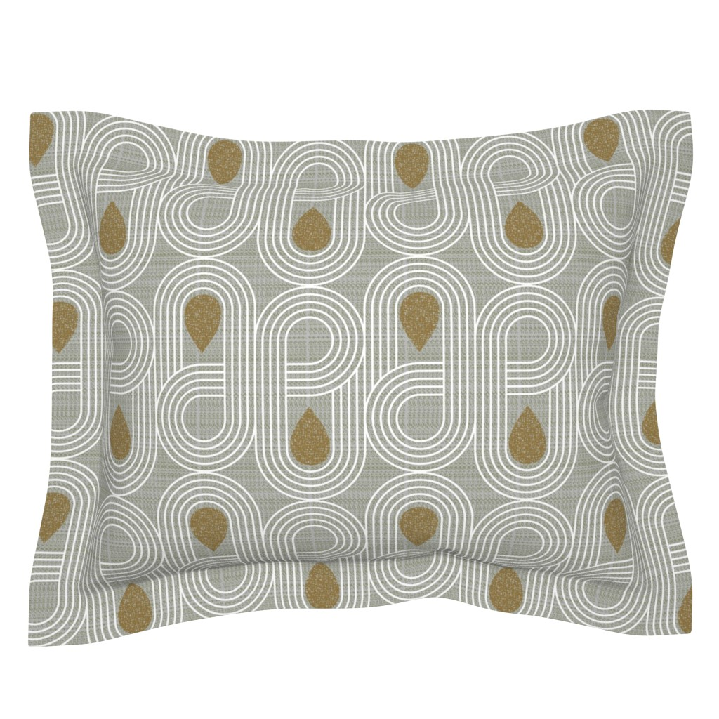 Sebright Pillow Sham featuring endless highway-mid century modern by ottomanbrim