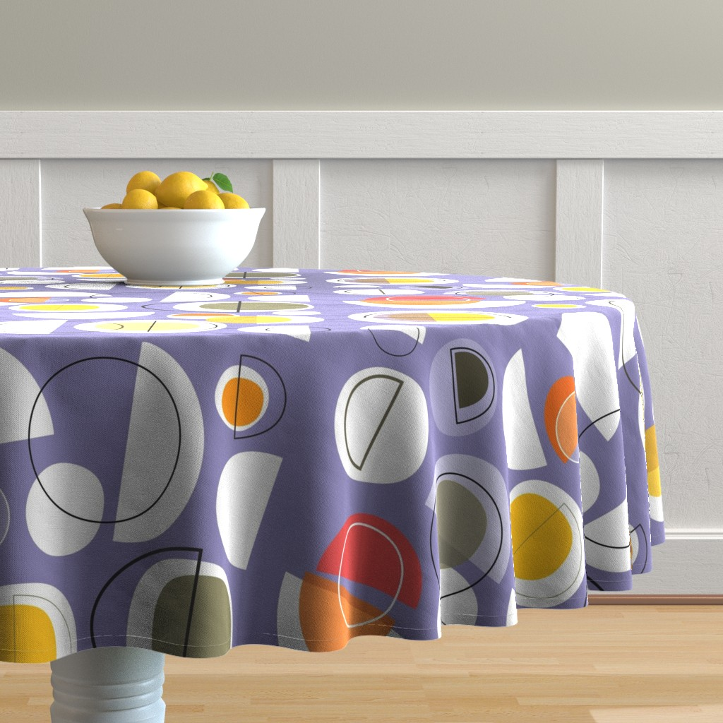 Malay Round Tablecloth featuring winter solstice by kurtcyr