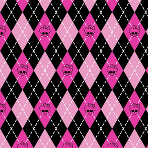 Monster High - Pink rhombus (argyle)