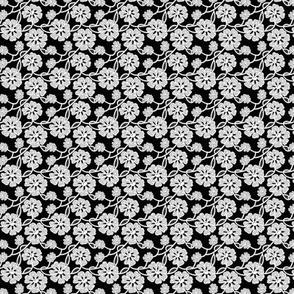 50s Lace print - white mini print