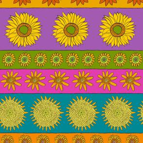 Sunflower + Color Stripes Horizontal