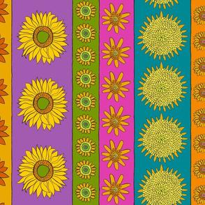 Sunflower + Color Stripes - Vertical