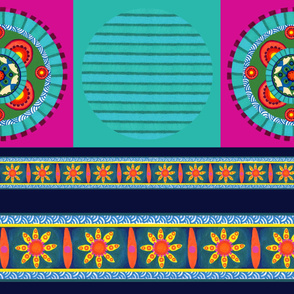 Stripey/Mandala pillow fabric
