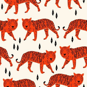 Tigers - Cream/Vermillion
