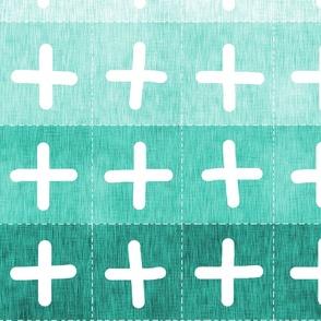 Farmhouse quilt (in aqua)