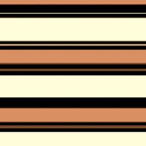 Peachy Black & White Nautical Stripe