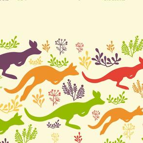 Jumping kangaroos matching border