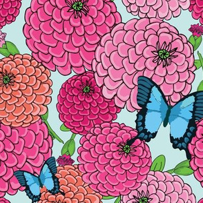 Butterfly Zinnia Floral