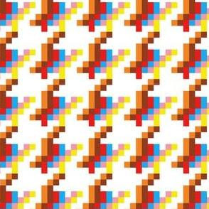 Pixels pied-de-poule (white)