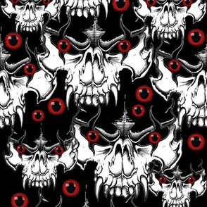Demon Skulls w/ red eyes