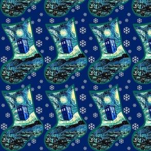 DIY Christmas Stockings Starry Night by Van Gogh