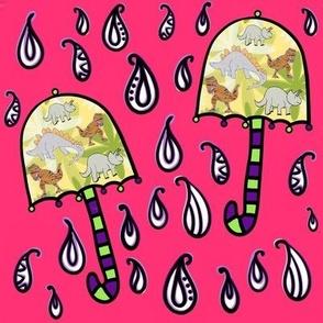 Bohemian Weather Dino Umbrellas