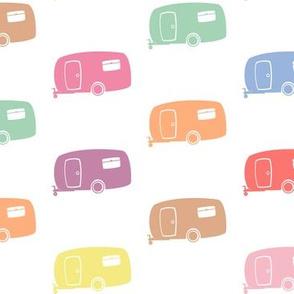 Pastel Retro RVs / Campers / Caravans