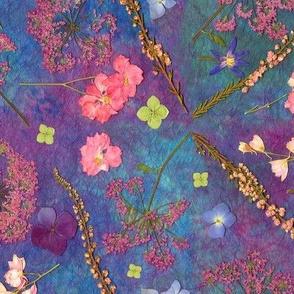 Pressed Flowers w Handmade Paper
