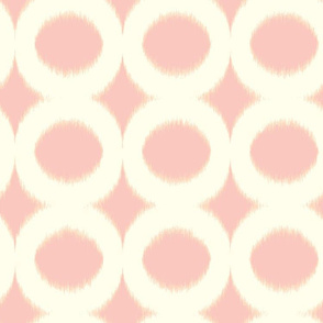 pink circle ikat
