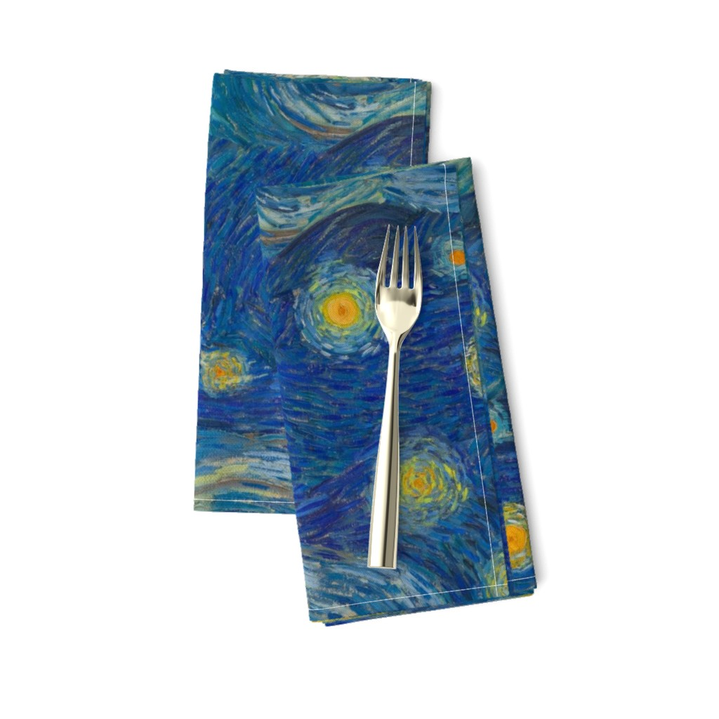 Amarela Dinner Napkins featuring starry, starry night sky - bright colors by weavingmajor