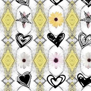 Double Diamond Charm Flower Doddle