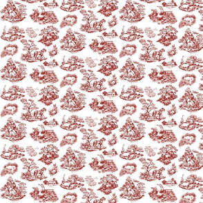 Countryside toile red