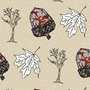 Fall Things: Acorns Leaves
