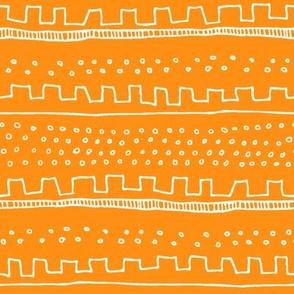 Horizontal Orange Stripe