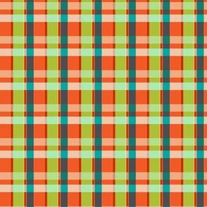 Plaid Lumberjack - Orange and Lime