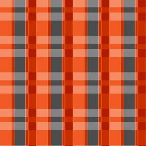 Plaid Lumberjack - Orange and Charcoal