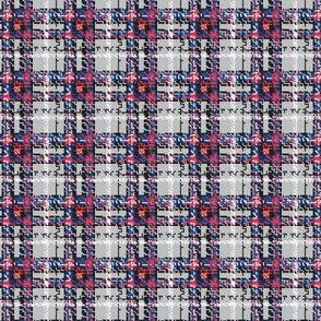 8-bit Plaid in Gray