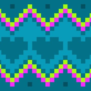8-Bit Eighties - Chevrons and Hearts