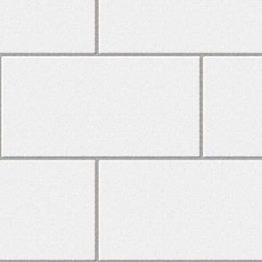 subway tile - white