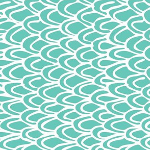 Vertical Teal Scale