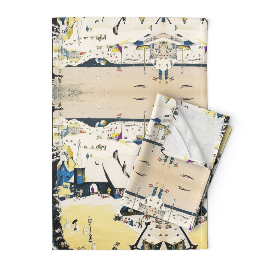 Orpington Tea Towels featuring Amsterdam street scene by saraicapael