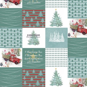 1 Yard Quilt Christmas Tree Farm