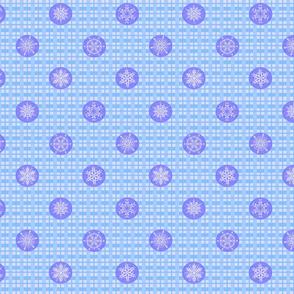 Let It Snow Light Blue Plaid