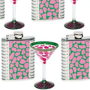 Pink Giraffe Martini Party