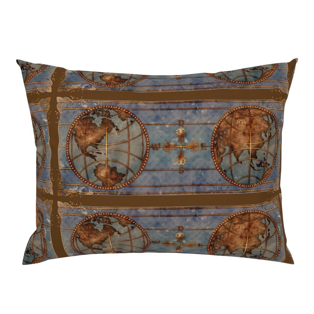 Campine Pillow Sham featuring World Map 2 by jadegordon