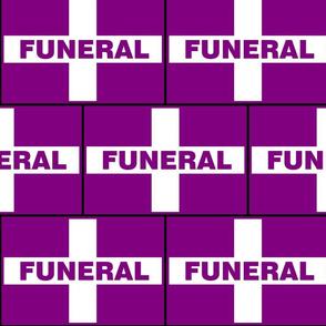 Funeral Flag - Purple