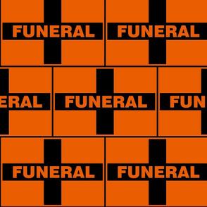 Funeral Flage - Orange