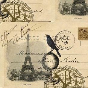My Travels to Paris Postcard