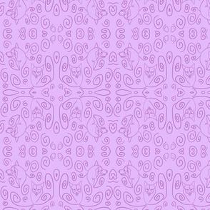 Whimsical Pembroke outlines - lavender