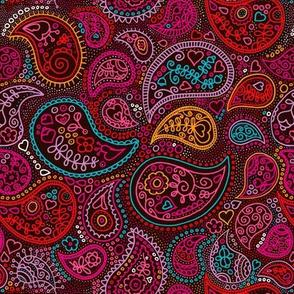 Oriental arabic india paisley