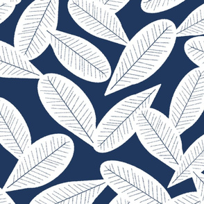 Falling Leaves, Navy