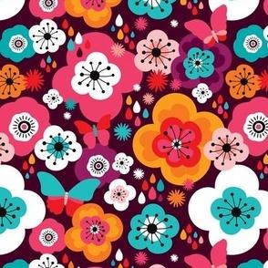 Flower power butterfly hippie bohemian summer for girls